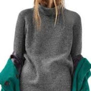 Topshop Gray Oversized Turtleneck Sweater Size 4